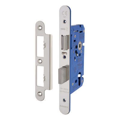 A-Spec Architectural DIN Euro Escape Sashlock - 85mm Case - 60mm Backset - Radius - Polished Stainl