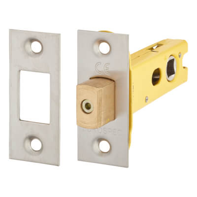 Altro 8mm Tubular Bathroom Deadbolt - 76mm Case - 57mm Backset - Satin Stainless