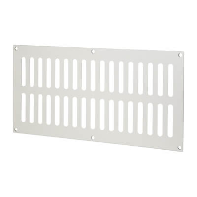 Plain Slotted Vent - 305 x 152mm - 12800mm2 Free Air Flow - Satin Aluminium