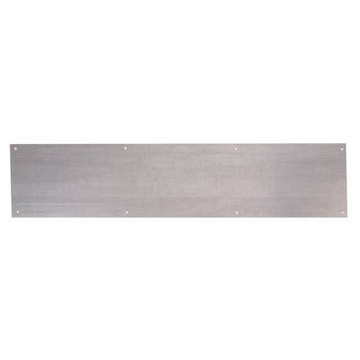 Kick Plate - 838 x 150 x 1.2mm - 8 Screw Holes - Galvanised Steel