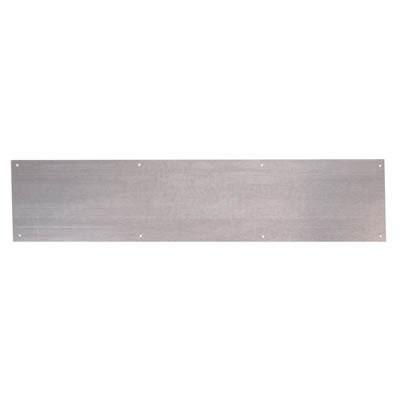 Kick Plate - 838 x 150 x 1.2mm - 8 Screw Holes - Galvanised Steel