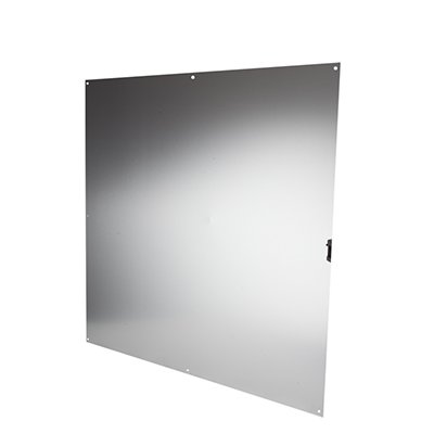 Half door panel kick plate - 760 x 760mm - Satin Anodised Aluminium)