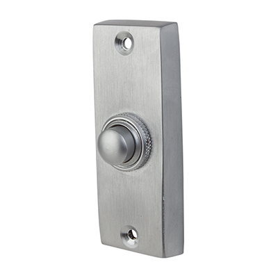 Plain Bell Push - 76 x 25mm - Satin Chrome