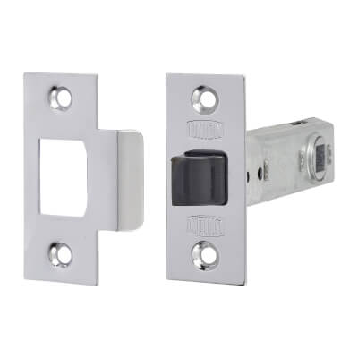 UNION® 2648 Tubular Mortice Latch - 91mm Case - 71mm Backset - Silver Enamel)