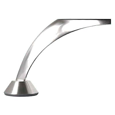 Designer Large Angled Furniture Leg - 117.5mm - Brushed Nickel