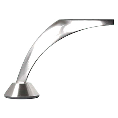 Designer Large Angled Furniture Leg - 117.5mm - Brushed Nickel
