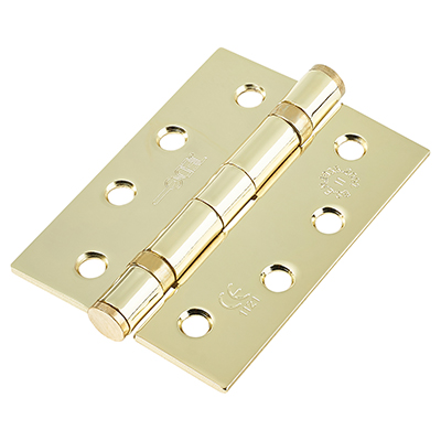 Jedo Twin Ball Bearing Steel Hinge - 102 x 76 x 2.7mm - Brass Plated - Pair)