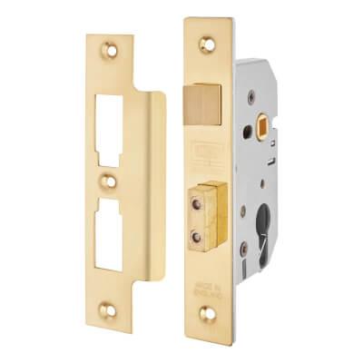 UNION® 2249 Euro Sashlock - 65mm Case - 44.5mm Backset - Brass
