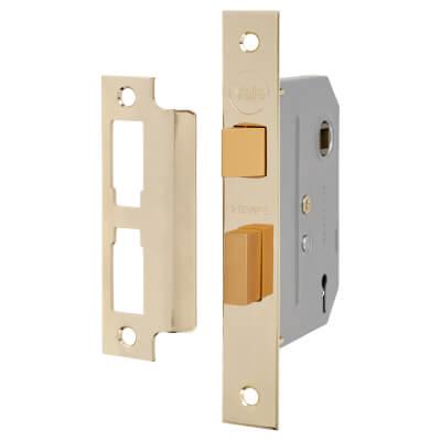 Yale® 2 Lever Interior Door Sashlock - 80mm Case - 57mm Backset - Brass