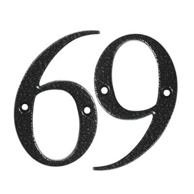 76mm Numeral - 6/9 - Antique Black Iron