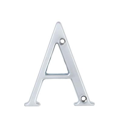 76mm Letter - A - Satin Chrome
