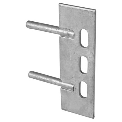 Gravel Board Fence Clip with Twin Cleat - Galvanised - 50mm)