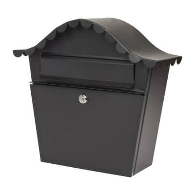 DAD Sirocco Mailbox - 350 x 315 x 105mm - Black)