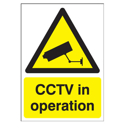 CCTV In Operation - 420 x 297mm)
