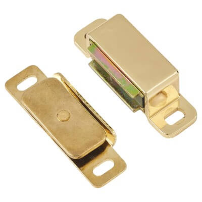 Veel-2 Magnetic Catch - 6kg Pull - 46mm - Brass Plated