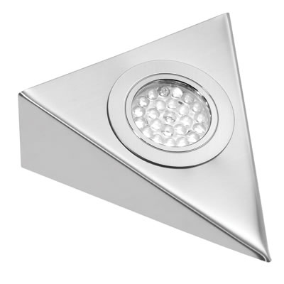 Leyton LED Triangle Cabinet Downlight With Driver - 130 x 130mm - 3 x 1.8W