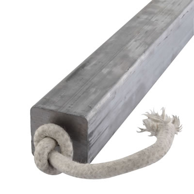 Lead Square Sash Weight - 9.11kg - 38 x 38 x 600mm)