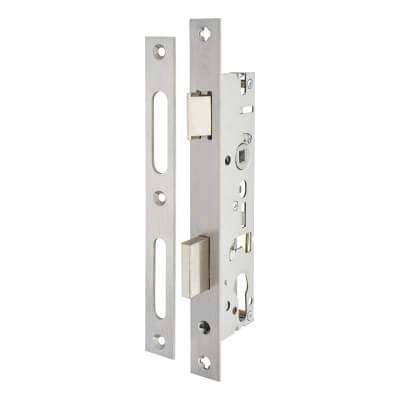 SAG Narrow Stile Sash Lock - 35mm Backset - Satin Stainless Steel)