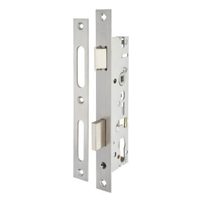 SAG Narrow Stile Sash Lock - 35mm Backset - Satin Stainless Steel