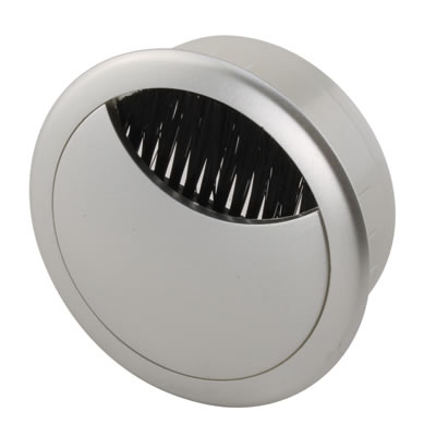 ION Round Desk Cable Grommet - 60mm - Silver
