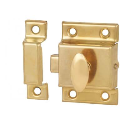 Cupboard Box Catch - 50 x 50mm - Electro Brass