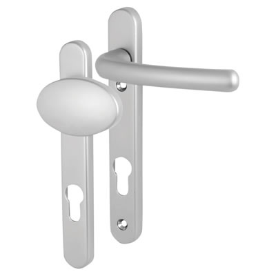 Fab & Fix Windsor Multipoint Lock Lever/Pad Door Handle - uPVC/Timber - 92mm centres - Satin Chrome