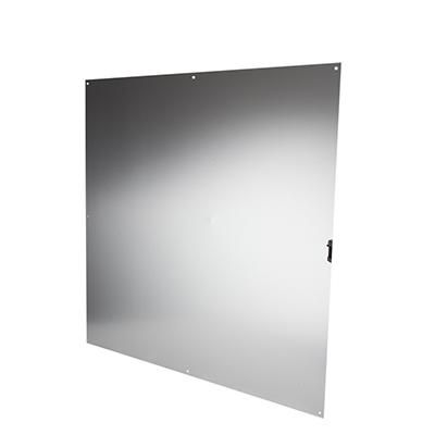 Half door panel kick plate - 900 x 900mm - Satin Anodised Aluminium)