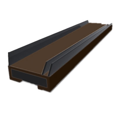 Pyroplex Triple Flipper Smoke Seal - 15 x 4 x 2100mm - Brown - Pack 5)