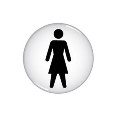 Ladies Toilet Door Sign - Domed - 60mm