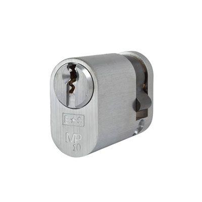 Eurospec MP10 UK Oval Single Cylinder 42mm Keyed to Differ - Satin Chrome  - Keyed Alike