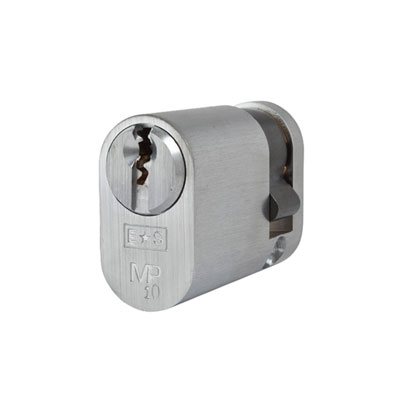 Eurospec MP10 UK Oval Single Cylinder 42mm Keyed to Differ - Satin Chrome  - Keyed to Differ