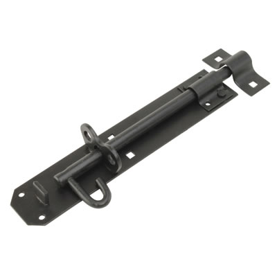 Brenton Padlock Bolt - 200mm - Black Galvanised)