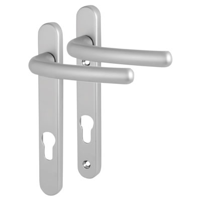 Fab & Fix Windsor Multipoint Lever/Lever Door Handle - uPVC/Timber - 92mm centres - Satin Chrome)