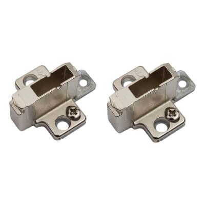 Blum CLIP Cruciform Mounting Plate - System Screws  - 18mm Spacing -  Zinc Diecast - Pair