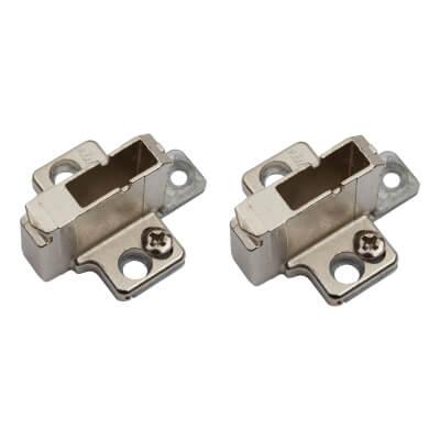 Blum CLIP Cruciform Mounting Plate - System Screws  - 18mm Spacing -  Zinc Diecast