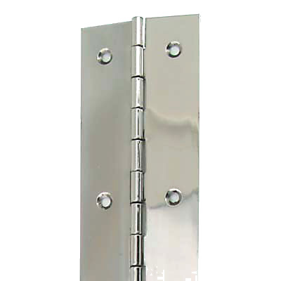 Piano Hinge - 1800 x 76 x 1.2mm - Polished Stainless Steel)