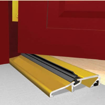 Exitex Narrow Slimline Threshold - 1829mm - Inward/Outward Opening Doors - Gold