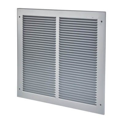 Vent Cover Grille - 345 x 345mm to suit transfer vent 300 x 300mm - Silver)