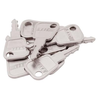 LASA Spare Keys - Pack 10 - Nickel Plated
