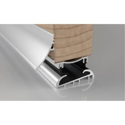 Stormguard Trimline 3-Part Threshold - 914mm - Silver