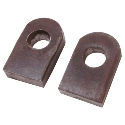 Gate Eye to Weld with Straight End Base - 16mm Pin - Self Colour Steel