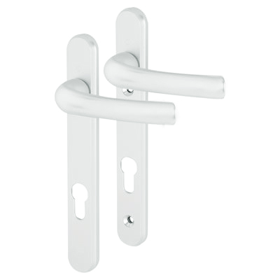Hoppe Tokyo Multipoint Handle - uPVC/Timber - 92mm centres - 60-70mm door thickness - White