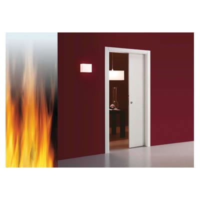 Eclisse Single Fire Pocket Door Kit - 100mm Finished Wall - 610 x 1981mm Door Size