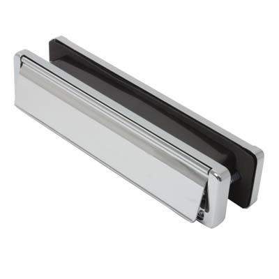 Fab & Fix - uPVC/Timber - Nu-Mail Letter Plate - 40-80mm Door - Bright Chrome)