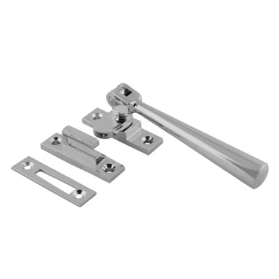 Carlisle Brass Julietta Hook & Plate Window Fastener - Polished Chrome