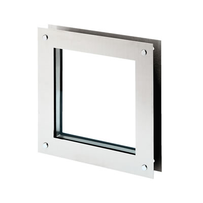North 4 Designs Square Twin Glazed Vision Panel - 360 x 360mm)