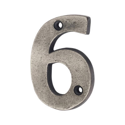 Olde Forge 78mm Numeral - 6 - Pewter