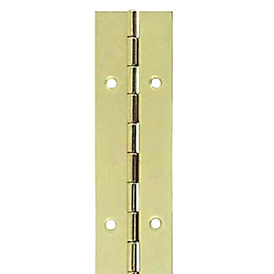 Steel Piano Hinge - 1800 x 32 x 0.7mm - Brass Plated)