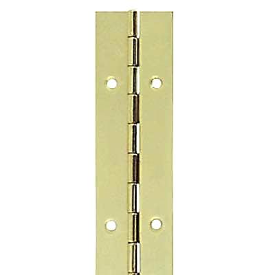 Steel Piano Hinge - 1800 x 32 x 0.7mm - Brass Plated)
