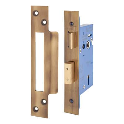 A-Spec Architectural 5 Lever Sashlock - 65mm Case - 44mm Backset - Florentine Bronze